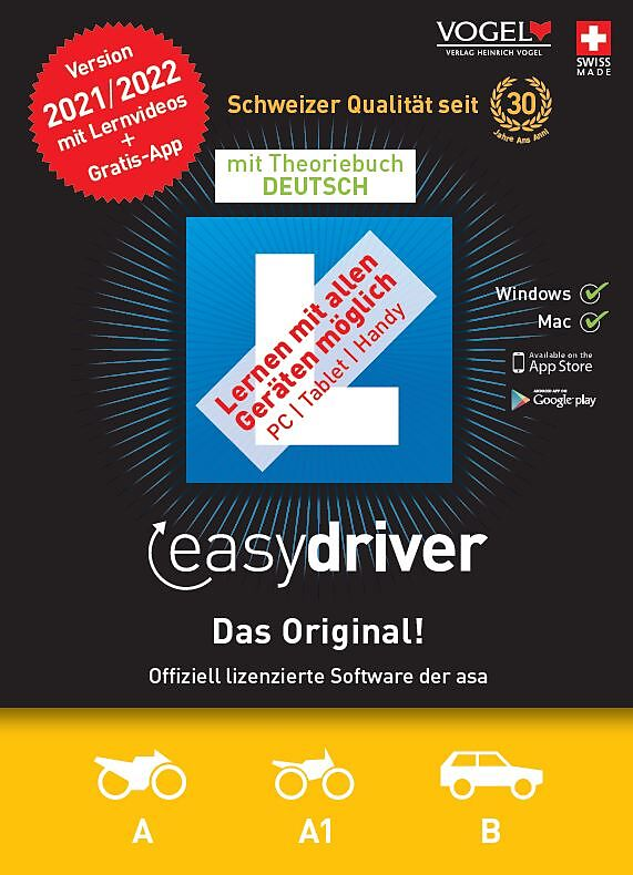 easydriver 2021/22 inkl. Theoriebuch Deutsch [PC/Mac] (D)